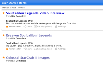 Expanded view in  Google Reader